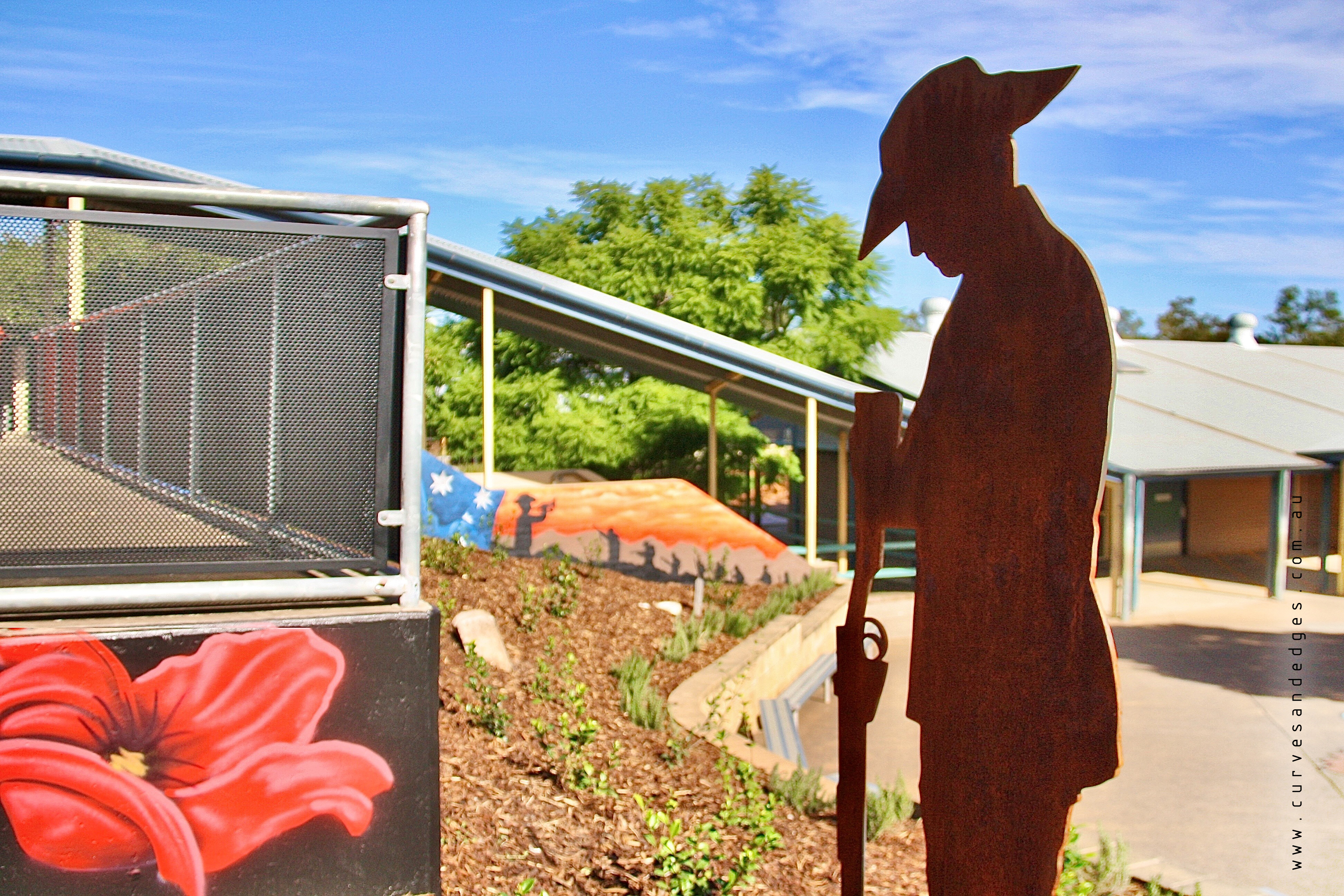 Curves and Edges _ Metal Anzac Soldier -