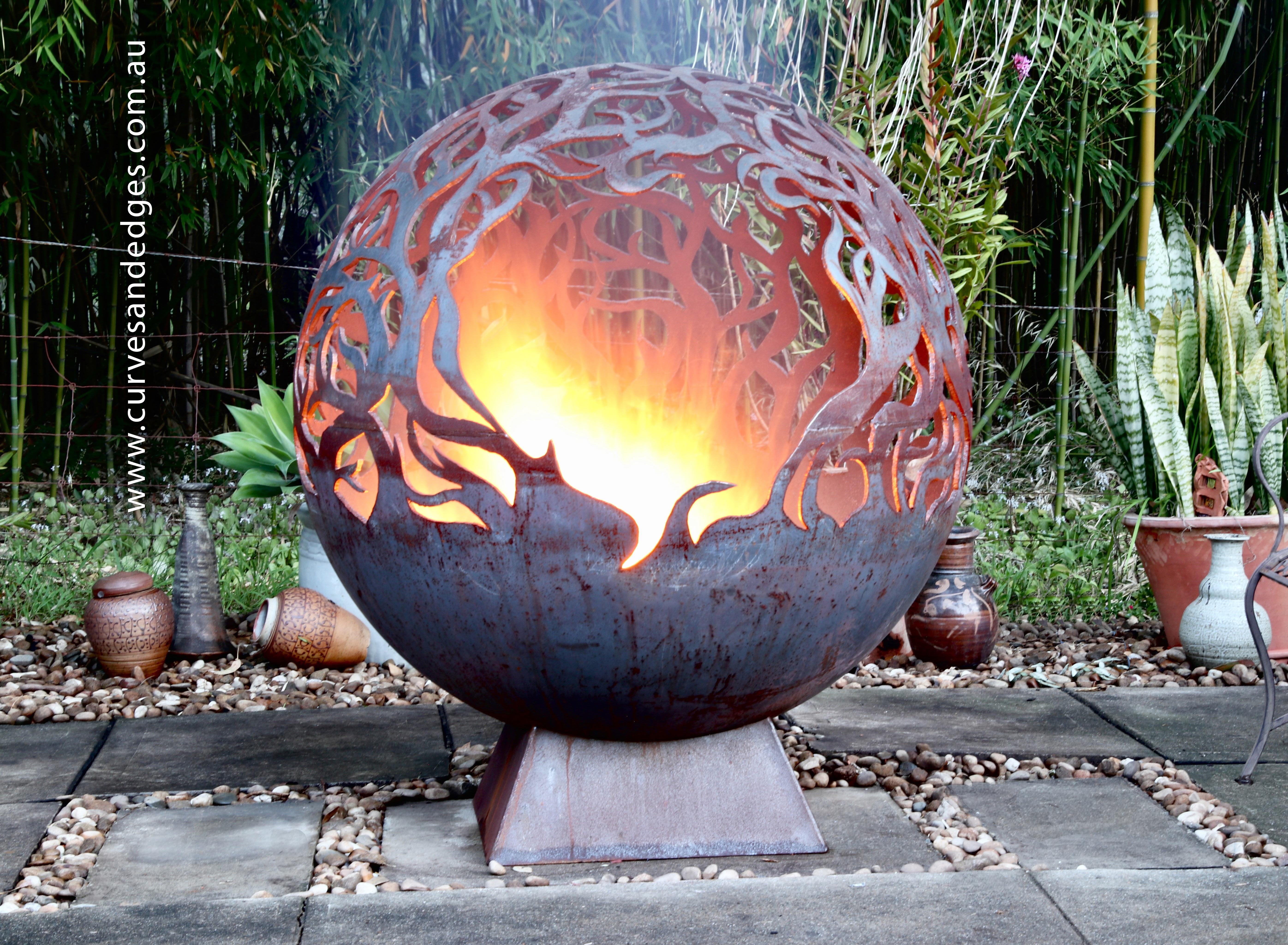Fire-Pit-Sphere---Artist-Sharon-Romeo---