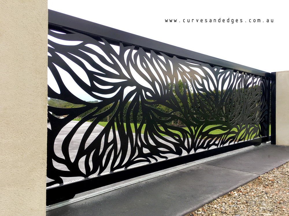 Abundance Design in Black Satin Powder Coat Gate