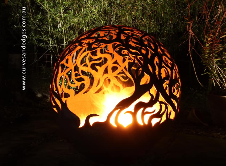 Dancing Flames Fire Pit Sphere