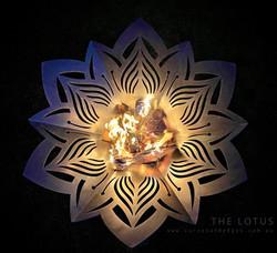 Lotus Flower fire Pit, Artist Sharon Romeo Curves and Edges Metal Art 1