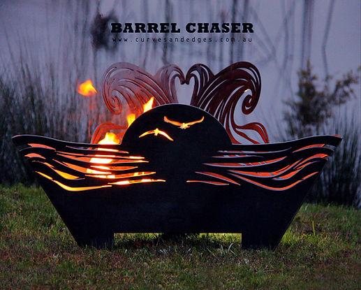 Barrel Chaser - Wave Fire Pit Metal Art,