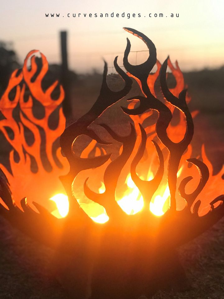 Fire Pit Sphere Artist Sharon Romeo Curv