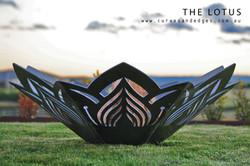 Lotus Flower fire Pit, Artist Sharon Romeo Curves and Edges Metal Art 4