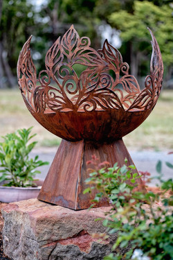Curves and Edges Fire Pit Sphere Artist
