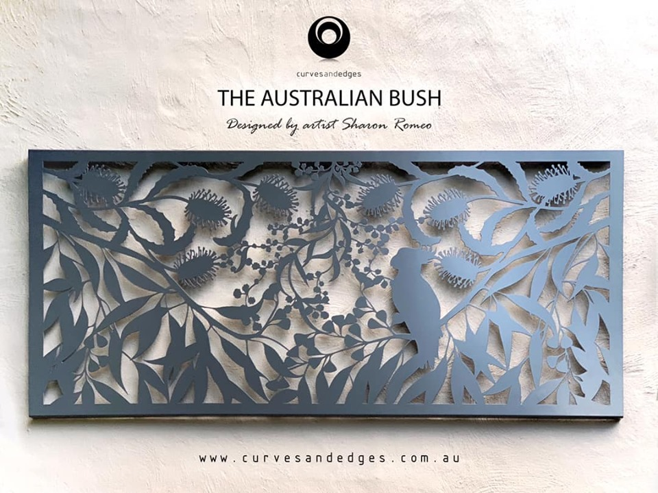 The Australian Bush Metal Screen - Curve