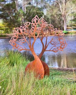 Boab Tree Metal Sculpture