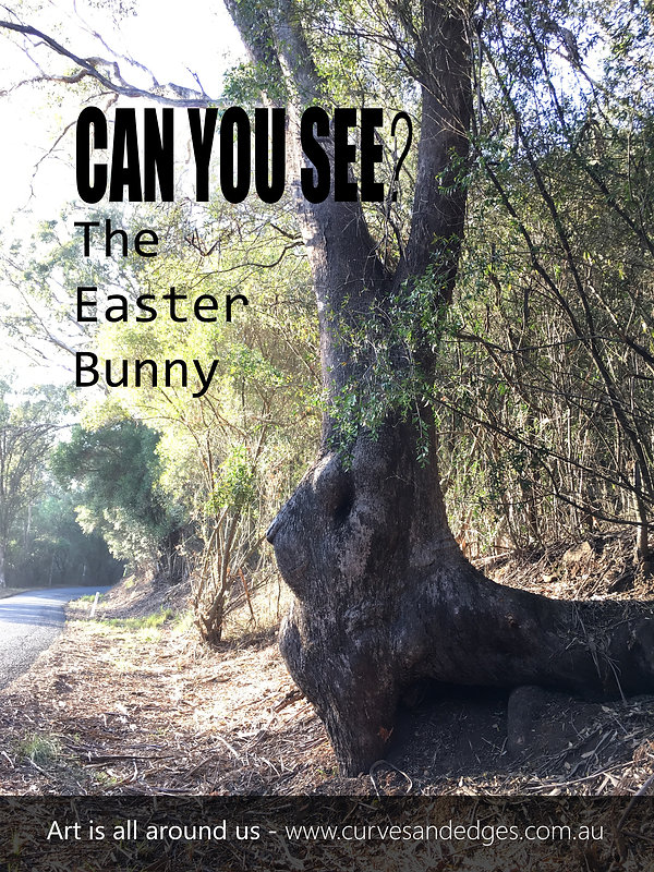 Tree Easter Bunny Art