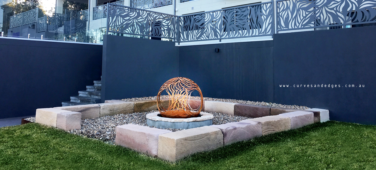 Custom Fire Pit Sphere