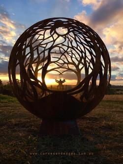 Fire Pit Sphere Artist Sharon Romeo Curv