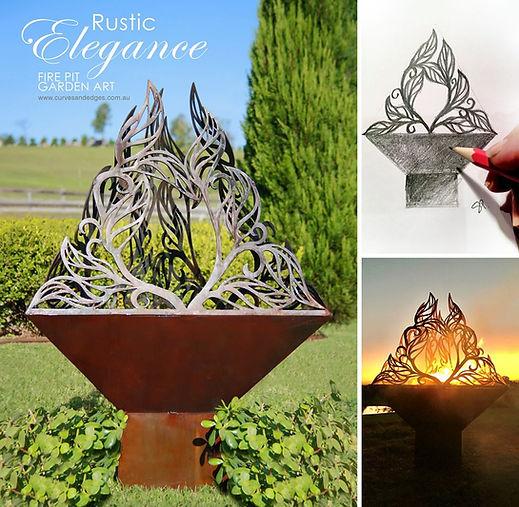 Fire Pit Metal Art, Garden Planter