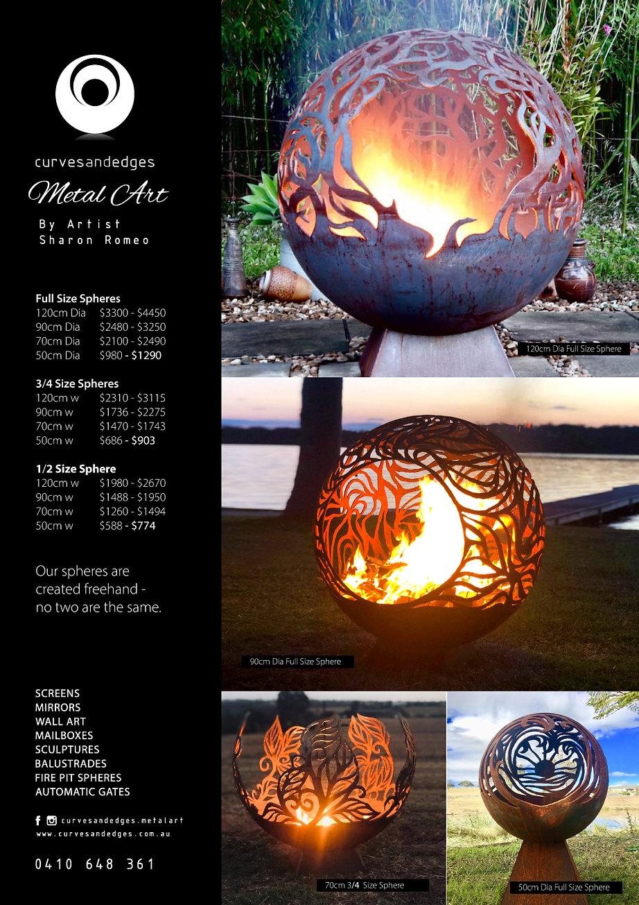 Fire Pit Sphere Price List