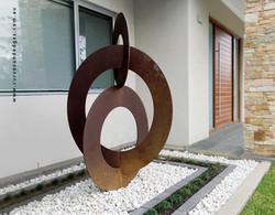 Sculpture Balanced Circles
