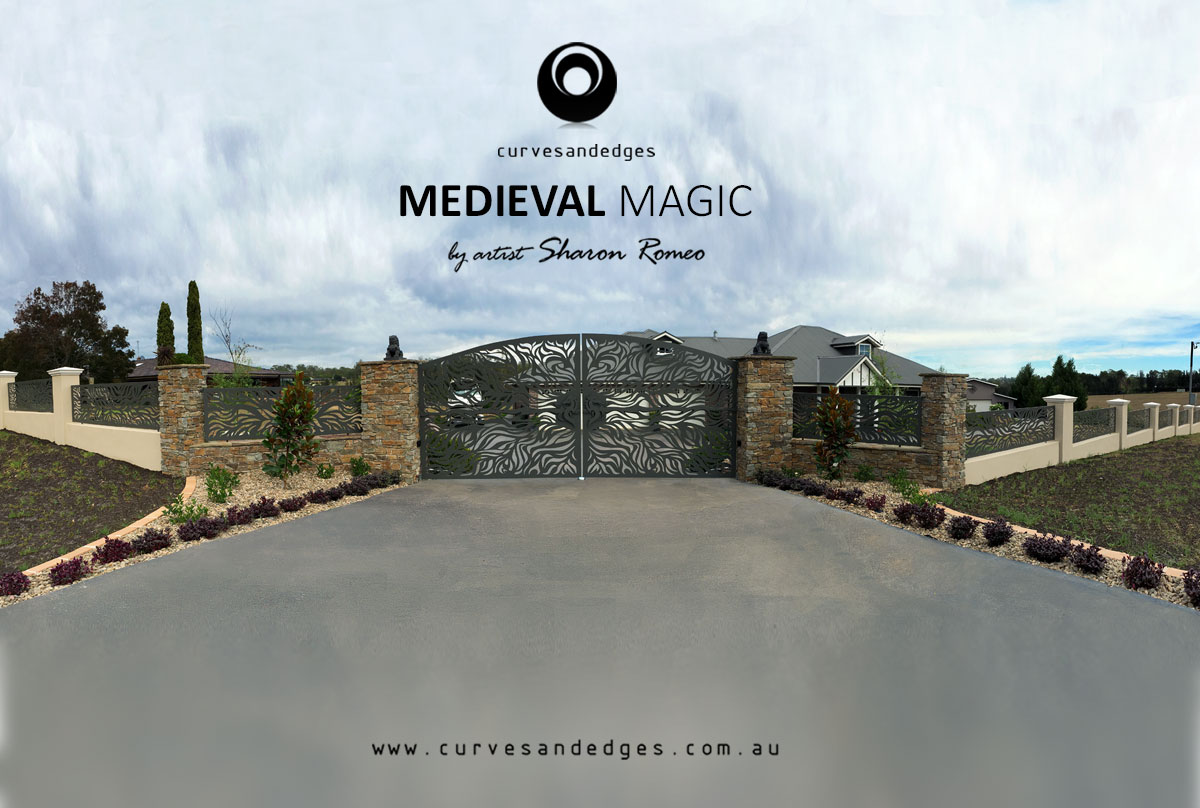 'Medieval Magic' Gate and Panel Art