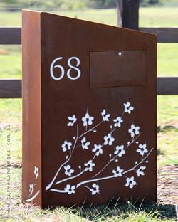 Cherry Blossom Mailbox