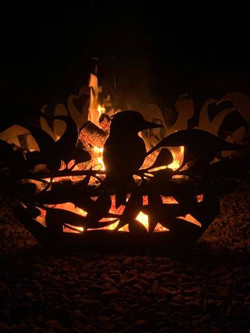 Australian Bush fire pit - curves and ed
