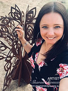 Artist Sharon Romeo , Curves and Edges Metal Art