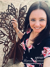 Artist Sharon Romeo with Tree of Life