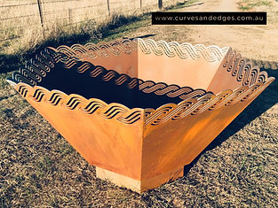 Croation Planter Curves and Edges - Artist Sharon, Garden Art
