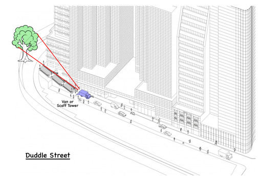Duddle St, Hong Kong - orthographic projection