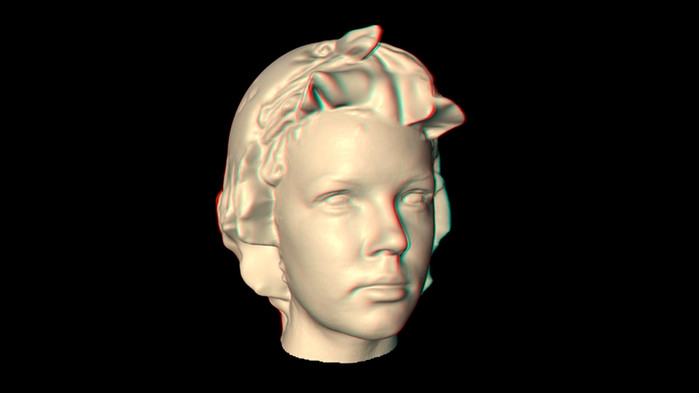 3D head scan test