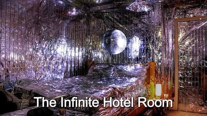 The Infinite Hotel Room installation in... a hotel room