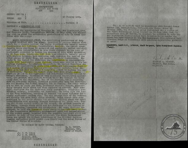 Holdsworth, Ralph - WWII Document