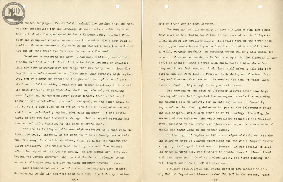 318th Field Hospital History - Pages 053-054