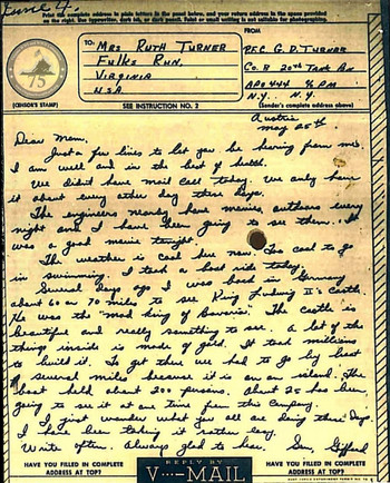 Turner, Gifford D. - WWII Letter