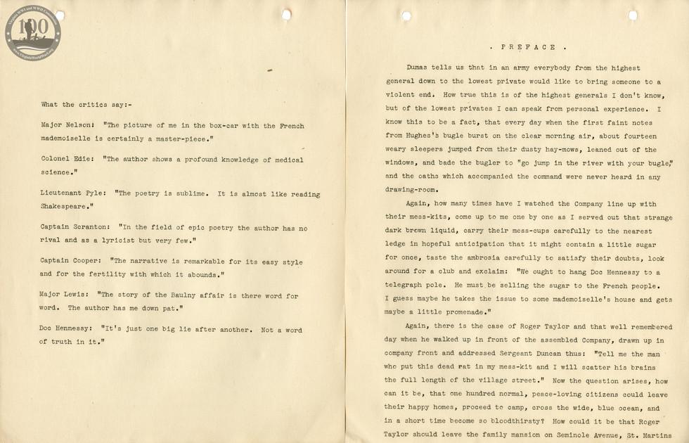 318th Field Hospital History - Intro & Preface 1