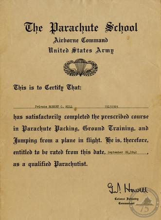 Hill, Robert C. - WWII Document