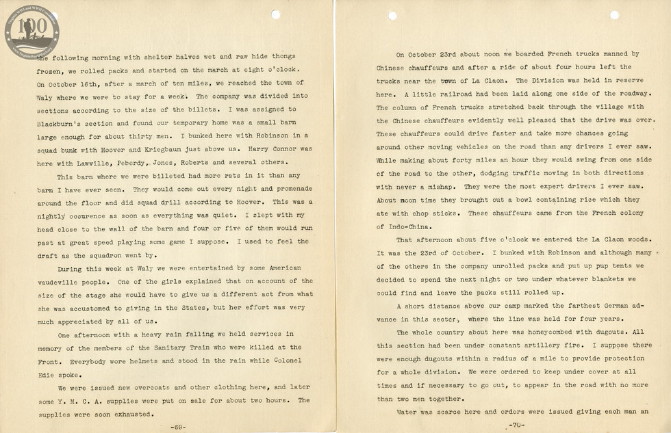 318th Field Hospital History - Pages 069-070