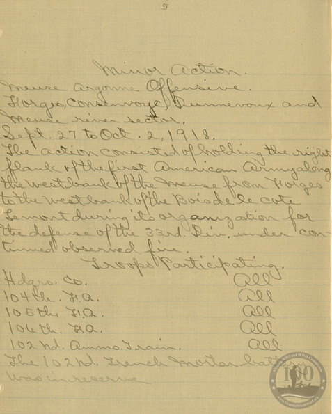 Whitehouse, Robert - WWI Document