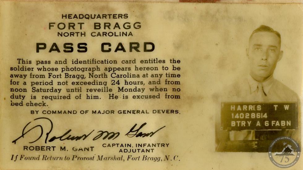 Harris, William Thomas - WWII Document