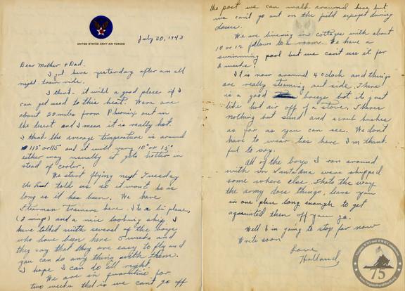 Kent Jr., Holland - WWII Letter
