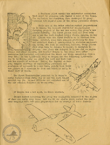 """Highlights from """"The History of the 318th Fighter Group"""" - Page 10"""