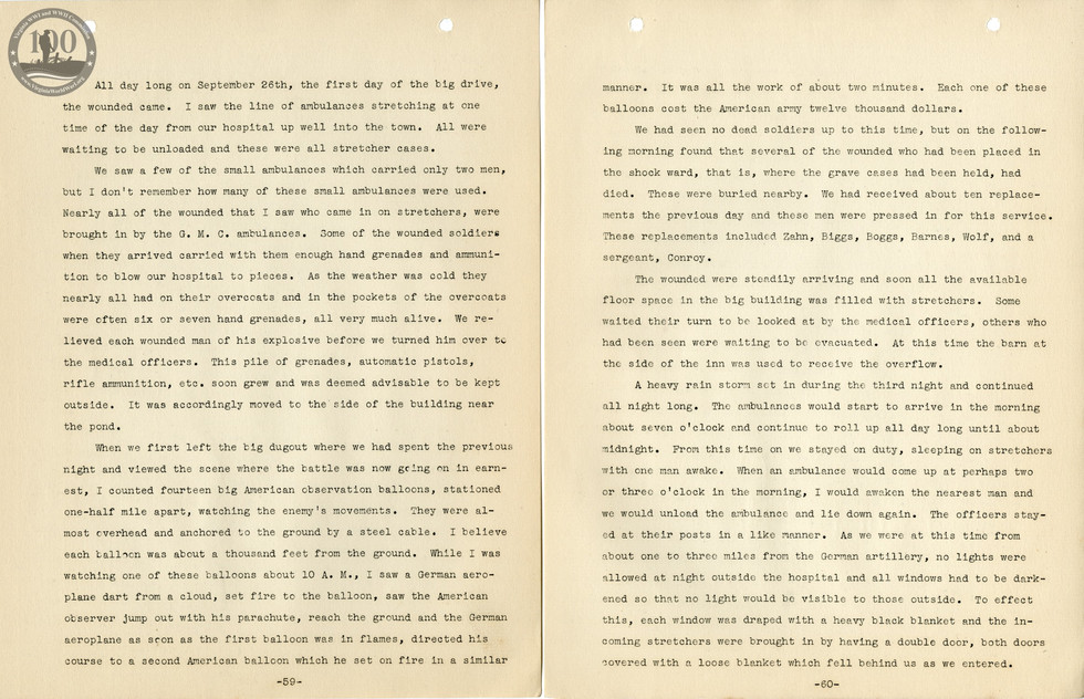 318th Field Hospital History - Pages 059-060