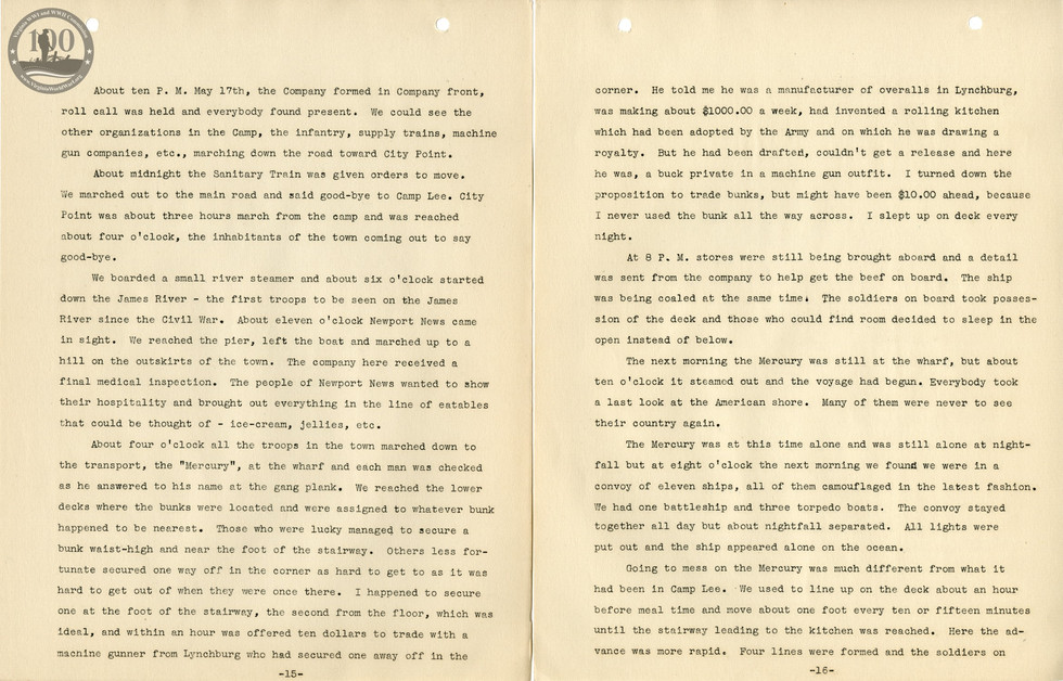 318th Field Hospital History - Pages 015-016