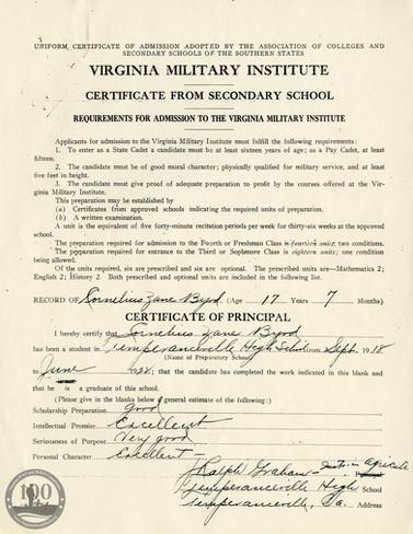 Byrd, Cornelius - WWII Document