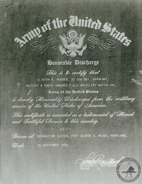 Hodges, Clinton R. - WWII Document