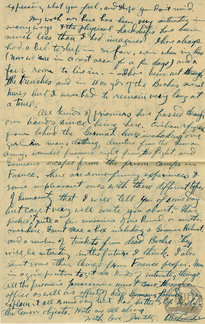 John Eaves World Wars Collection - WWI Letter