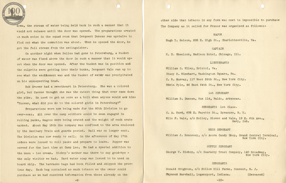 318th Field Hospital History - Pages 009-010