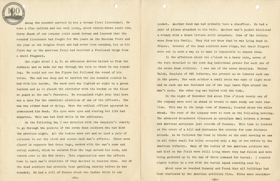 318th Field Hospital History - Pages 079-080