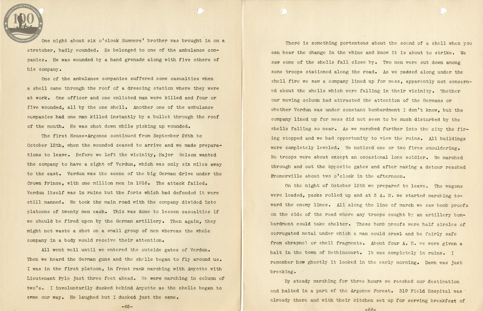 318th Field Hospital History - Pages 065-066