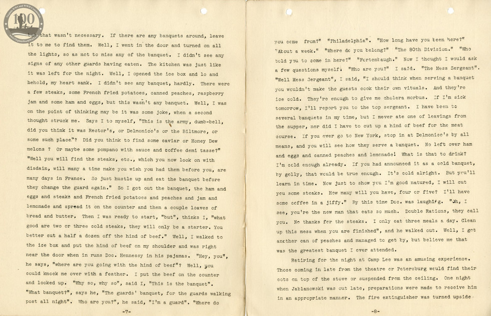 318th Field Hospital History - Pages 007-008