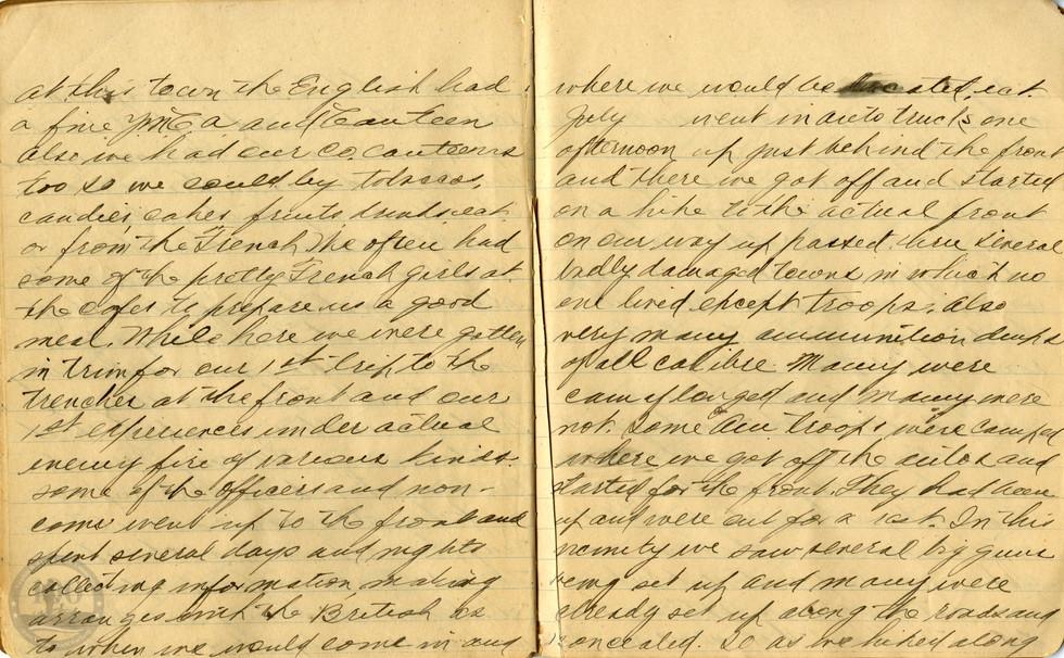 Life, Millard - WWI Diary #09