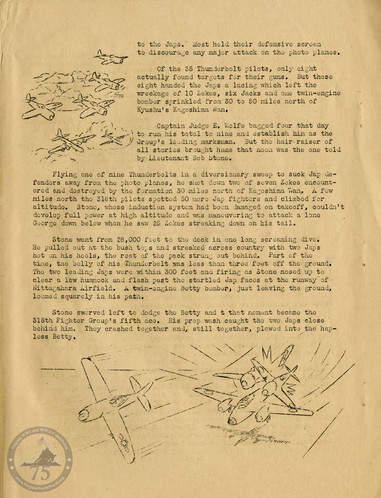 """Highlights from """"The History of the 318th Fighter Group"""" - Page 12"""