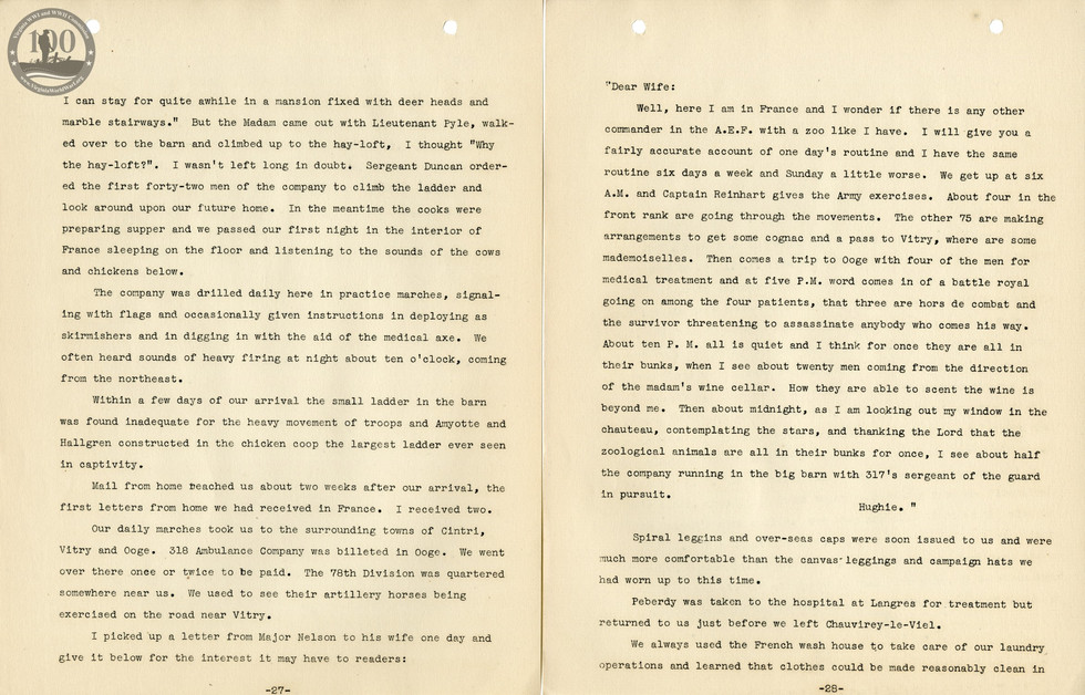 318th Field Hospital History - Pages 027-028