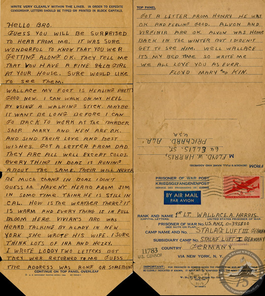 Harris, Wallace A. - WWII Letter
