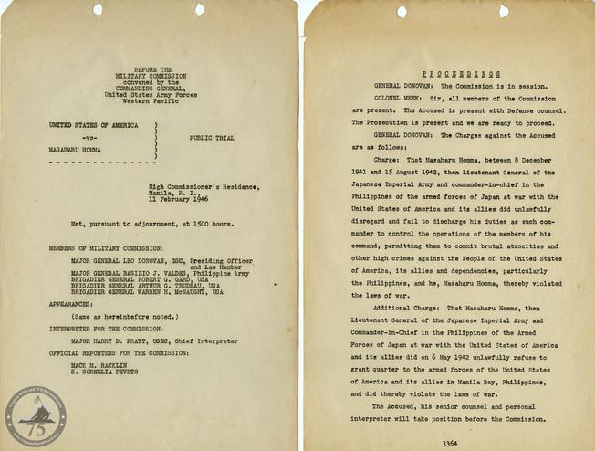 Manila War Crimes Trials - 7